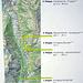 Übersicht des Lötschberger Bahnwanderweg und Standort der Infotafeln