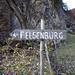 Weg zur Felsenburg ist nicht zu verfehlen...