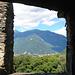 Blick vom Castello Montebello auf das morgige Tourengebiet