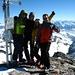 Gipfelfoto mit Christoph, Dominik ([u Bombo]), Yvonne und mir