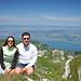 Io e Mauro sulla cima, sullo sfondo il Lago Lemano