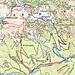 Übersicht: ROT Aufstiege, BLAU Abfahrten: Klick auf die Karte zum vergrößern          [http://www.matthias.hikr.org Home]