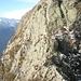 Passaggio su roccia facilitato da catene