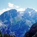 Sehr instruktive Ansicht der Fisistock-Doldenhorn-Südseite. Genau in Bildmitte die nur von einsamen Schafen bewohnte Alp Halpi hoch über dem Gasteretal.