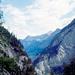 Im Aufstieg vom Waldhaus über den Gurnigelweg. Blick talauswärts Richtung Kandersteg mit vier alten Bekannten von mir :-)