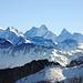 Rosenhorn, Mittelhorn, Wetterhorn, Lauteraarhorn, Schreckhorn und Finsteraarhorn… was für eine Aussicht!