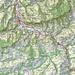 Ungefähre Route Necker Brückenweg S