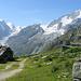 De Pra Gra, vue du Mont Collon et de la Pigne d'Arolla