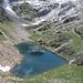 Il Lagh de Calvaresc dalla cima quotata 2268 metri.