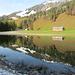 Spiegelung im Lecknersee