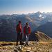 Am Gipfel des Gr. Daumen - mit dem Paradeberg ' Hochvogel ' als Hauptdarsteller im Hintergrund