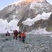 Le prime luci sul Mont Blanc de Cheillon.