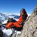 Tanja chillt auf dem Gipfel