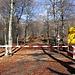 """Dal segnavia in località """"<b>Magazzino</b>"""", 1172 m, una barriera impedisce ai non autorizzati di proseguire con l'auto."""