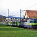 Kurz nach Langnau: neben der Ilfis der RE nach Luzern