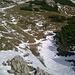 Süd seitiger Abstieg fast ohne Schnee, nur noch in Mulden