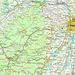 Lage vom Le Donon im Département Bas-Rhin. Der Le Donon (1008m) ist auf der Karte mit einer roten Ellipse markiert.