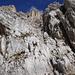 die einzige leichte Klettereinlage der Tour: ein kleines Ier- Wandl, gut gestuft