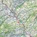 Ungefähre Route Brückenweg Obertoggenburg Süd