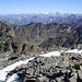 Blick über den Kamm mit der Kirchdachspitze in die Zillertaler