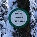 Nicht zu übersehen, das Schild auf dem Col du Taurupt (688m).
