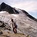 1994 - auf der Seelücke. Auf diesem Foto von meiner Tour zum [tour30662 Großen Seehorn] sieht man den Wegverlauf zum kleinen Seehorn fast bis zum Gipfel.