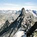 WOW - stolz präsentiert sich der Große Litzner vor der vergletscherten Silvrettakulisse im Hintergrund. Aufnahme Standort: kleine Scharte im Nordwestgrat.<br />Leider letztes Foto dieser Tour - Reservefilm vergessen ;-(
