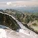 Aus der Nordflanke des Gr. Seehorns fotografiert (kurz nach dem Gewitter) - über dem Nährbecken des Seegletschers baut sich das [tour30664 Kleine Seehorn] auf (links).