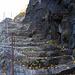 In Stein gehauene Treppe