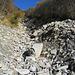 Steinwüste auch in Seitentälern