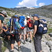Unsere Gruppe im Aufstieg zum Piz Kesch 3418m