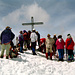 Ziemliches Gipfelgetümmel verursacht durch 4 Seilschaften des DAV Greiz