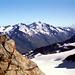 Blick hinüber zum Hauptkamm (Weißkamm) der Ötztaler Alpen mit der Wildspitze.