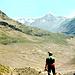 Karri am Rückweg zur Vernagthütte  (2766m) auf der Seitenmoräne des Guslarferners