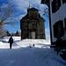 Bei St.Meinrad schien plötzlich die Sonne, 10min später begann es zu schneien.
