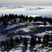 Kurz vor dem Gipfel La Dôle, Blickrichtung Genf