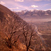 Gefärbter Blick aufs Maggiadelta vom Rovine del Castelliere
