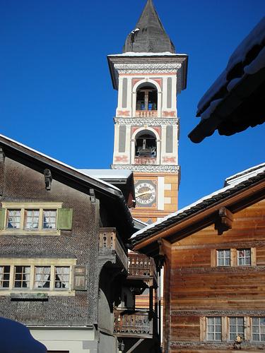 Wunderbare Kirche von Vrin aus dem Jahr 1625