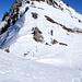 Der Gipfel Aufstieg, Bei viel Schnee wäre hier wohl für mich Ende...