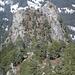 Der ( Grosse ) Schijen - der Aufstieg erfolgt direkt über die bewaldete Flanke. Die Route ist deutlich zu erkennen!