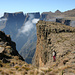 An der 1000 Meter hohen Abbruchkante, die das Königreich Lesotho von Südafrika trennt