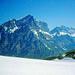 Die felsige Südseite der westlichen Berner Riesen.