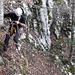 Die zweite Abseilstelle im Abstieg.
