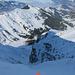 Das obligate Skispitzen - Abgrund Foto bei der Couli Einfahrt