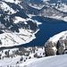Wägitalersee vom Gipfel des Mutteristock 2294m fotografiert