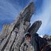 Bester Granit am Gipfelturm und ein glücklicher Bombo