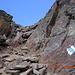 Kamin mit kurzer Kraxelstelle