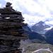 L'ometto sulla cima Sud del Chilchhorn.