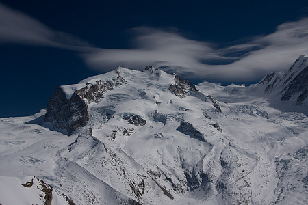 Dufourspitze vom Gornergrat aus
