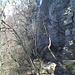 In der Querung unterhalb der Felswände - nein, kein Filterexperiment, miese Handykamera!